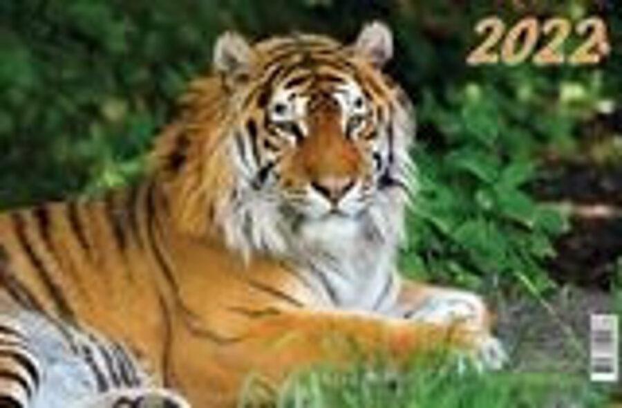 Календарь квартальный трёхблочный с курсором на 2022 год. Символ года